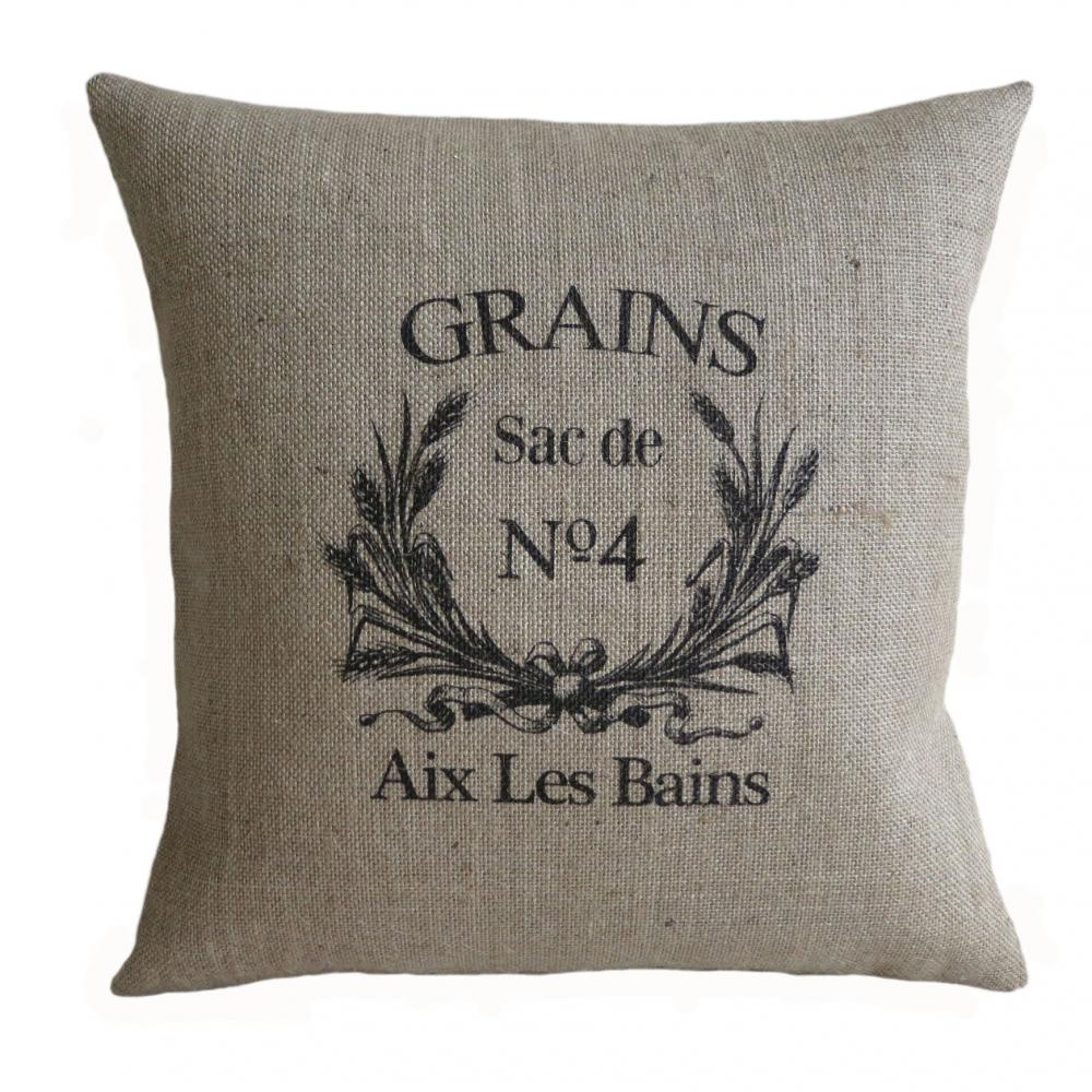 Vintage Pillows: Vintage French Grain Sack Pillow Cover On Luulla