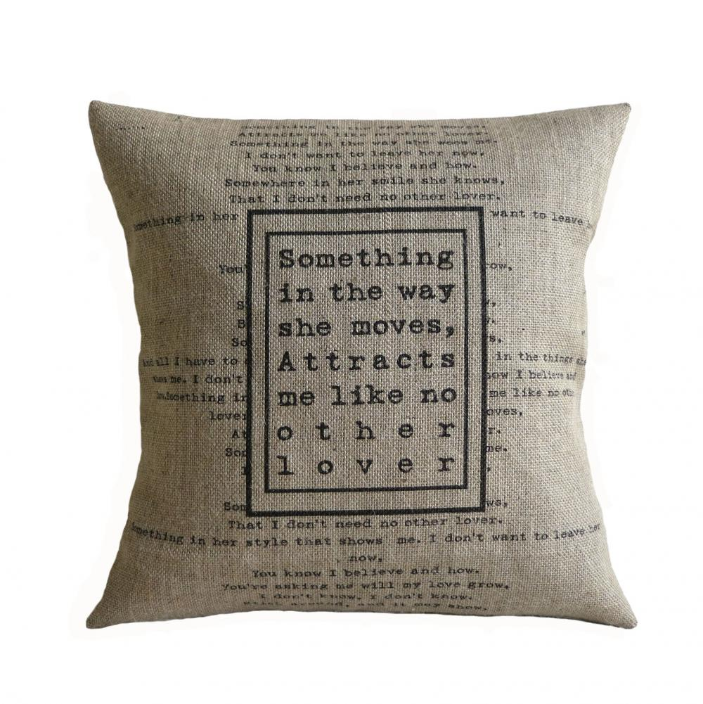 Beatles Quotes Love The Beatles Song Love Quote Something Burlap Pillow Cover On Luulla
